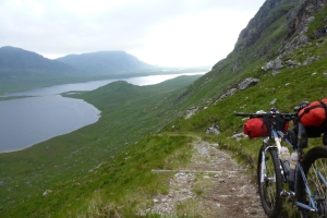 The descent to Carnmore. Picture taken last summer. Imagine it darker and wetter for this year.